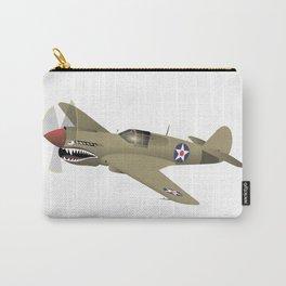 WW2 P-40 Warhawk Airplane Carry-All Pouch