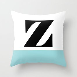 Monogram Letter Z-Pantone-Limpet Shell Throw Pillow