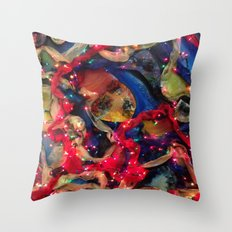 Lights Collage Throw Pillow