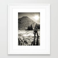 ski Framed Art Prints featuring ski by Sébastien BOUVIER