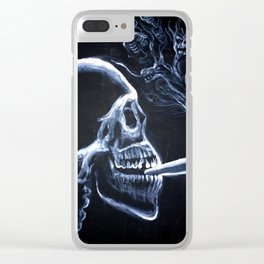 A smoker's portrait Clear iPhone Case