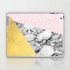 Trini - abstract painting texture gold pastel pink marble trendy hipster minimal art design bklyn  Laptop & iPad Skin