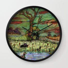 Consulting With The Tree Wall Clock