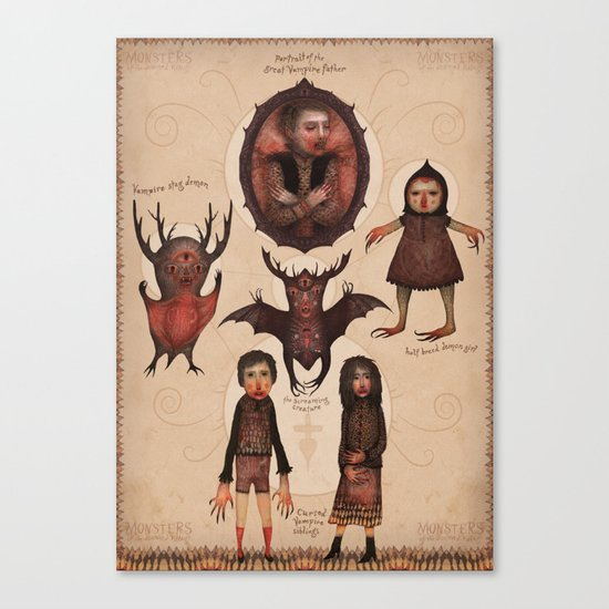 Monsters of the Doomed Village Canvas Print