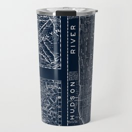 Vintage New York City Street Map Travel Mug