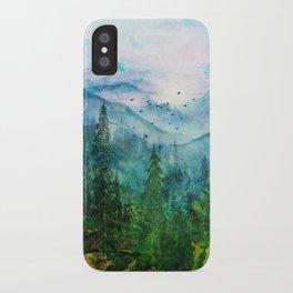 Spring Mountainscape iPhone Case