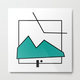 ABSTRACT MOUNTAIN LINES Metal Print