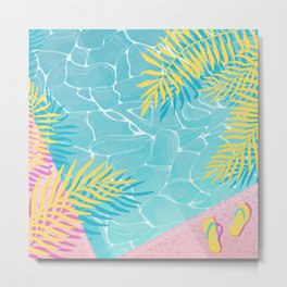Tropical pool chill Metal Print