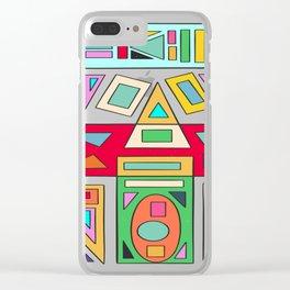 Geometric Ruins Clear iPhone Case