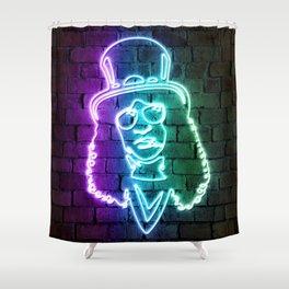 Slash neon art Shower Curtain