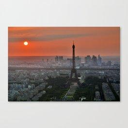 Paris le soir Tour Eiffel Canvas Print