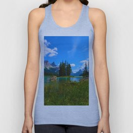 Spirit Island on Maligne Lake, Jasper National Park Unisex Tank Top