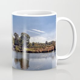 Fall reflections at Russell Orchards Coffee Mug