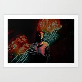 Neon Portrait Art Print