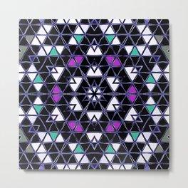 Brilliant Star Triangle Pattern Metal Print