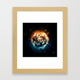Burning Circle - Fire and Ice - Isolated Framed Art Print