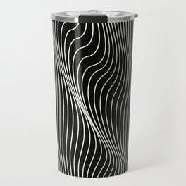 Minimal curves black Travel Mug