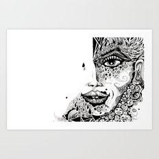 FACE+ Art Print