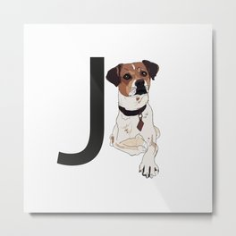 J is for Jack Russell Terrier Dog Metal Print