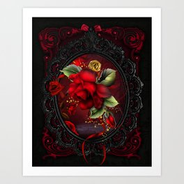 Rose Red Art Print