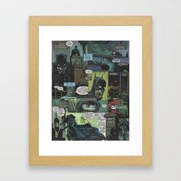 Bruce Wayne Comic Collage Framed Art Print