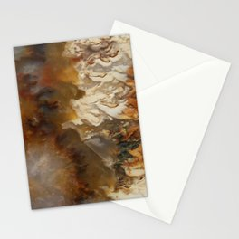 Abstract Agate Stationery Cards