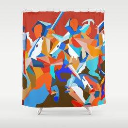 battle colors Shower Curtain