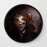 moriarty Wall Clocks featuring elementary: jamie moriarty [3] by roanne Q