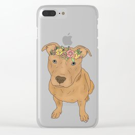 Colourful Pit Bulls, Pit Bulls Gift Clear iPhone Case
