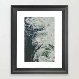 Summer Ocean Waves Framed Art Print