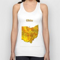 ohio Tank Tops featuring Ohio Map by Roger Wedegis