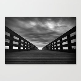 Bridge and clouds Canvas Print