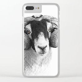 Black and which moorland sheep Clear iPhone Case