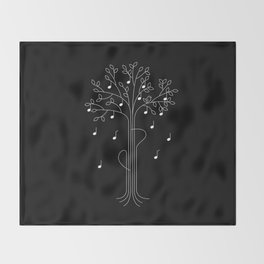 The Musician Throw Blanket