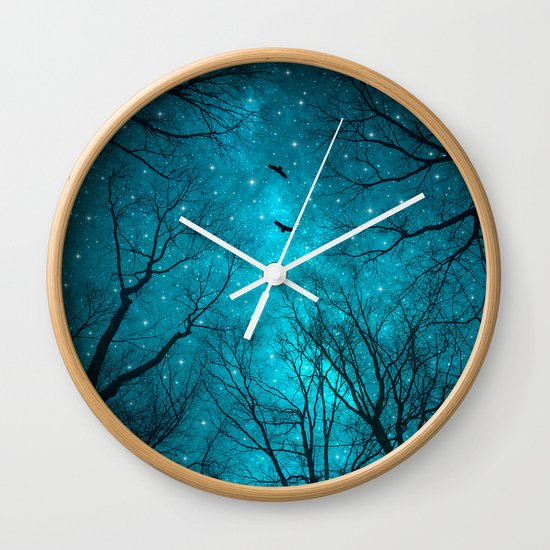 stars can 39 t shine without darkness wall clock by soaring