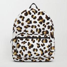 Black & Gold Leopard Spots Backpack