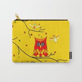 Whimsical Autumn Nature #owl #bird Carry-All Pouch