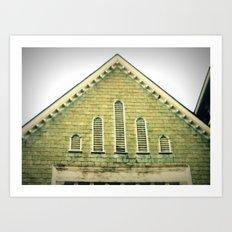 Attic Windows Art Print