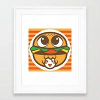 pagan Framed Art Prints featuring Pagan Burger by Pagan Holladay