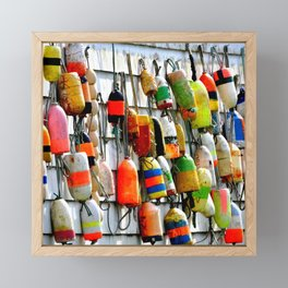 COLOURFUL FISHING FLOATS Framed Mini Art Print