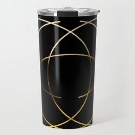 Modern minimalist black and Gold design Travel Mug