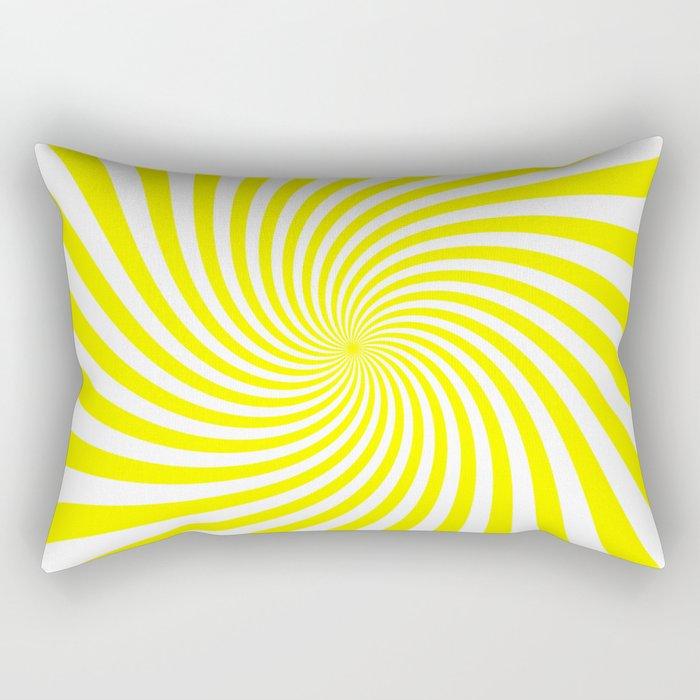Swirl (Yellow/White) Rectangular Pillow