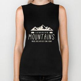 Psalm 121 Mountain Christian Bible Verse shirt Biker Tank