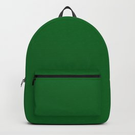Forest Green Solid Color Block Backpack