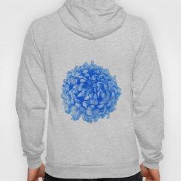 Blue Pop Art Inspired Flower Hoody
