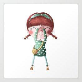 A de Tina Art Print
