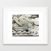 hook Framed Art Prints featuring Hook by Tina Heuring