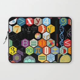 Math in color Black B Laptop Sleeve