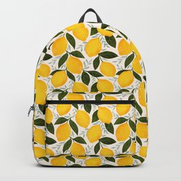 Mediterranean Summer Lemons Pattern Backpack
