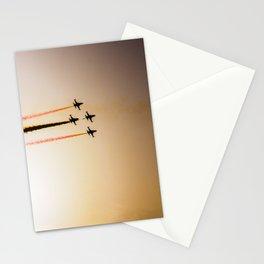 Turkish acrobatic aviation squadron flying over Izmir (Turkey) Stationery Cards